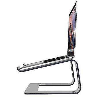 Hopeinen kannettavan tietokoneen jalusta - kannettavan tietokoneen nousuteline työpöydälle - alumiininen ergonominen kannettava tietokone holde x7723