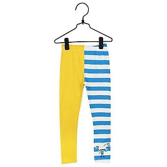 Pippi Langkous Leggings (Blauw/Geel)