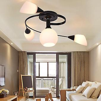 220V E27*4 Simple Living Room Ceiling Lamp, European Style 4 Heads Study Lamp Diameter Without Bulb