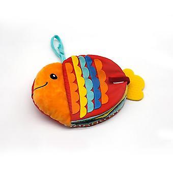 Мультфильм Морские животные Кукла Моющаяся ткань Книга Книга Творческая маленькая рыба Ткань Книга