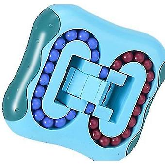 Světle modrá rotující bead rubikova kostka dětská vzdělávací dekomprese x7656