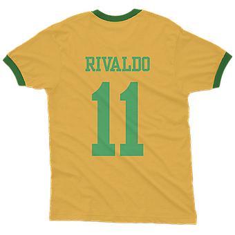 Rivaldo 11 brazil country ringer t-shirt