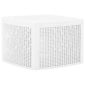 Beistelltisch 54X54X36,5 Cm Kunststoff Weiß