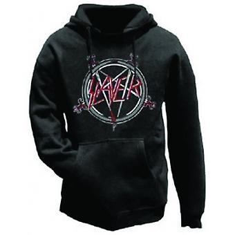 Slayer Pentagram Mens Hoodie: Liten