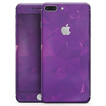 Dark Purple Geometric V15 - Skin-kit For The Iphone 8 Or 8 Plus
