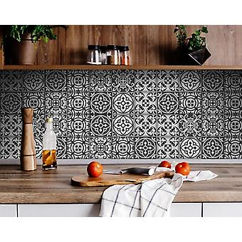 """8"""" X 8"""" Gray and White Multi  Peel and Stick Removable Tiles"""