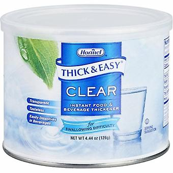 Hormel Food and Beverage Thickener Thick & Easy 4.4 oz. Container Canister Unflavored Powder Consistency V, Case of 4