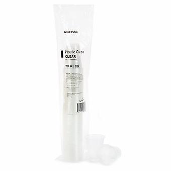 McKesson Drinking Cup McKesson 7 oz. Clear Polypropylene Disposable, 100 Count