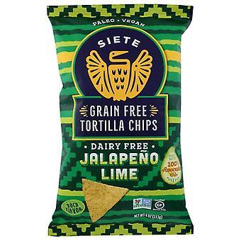 Siete Chip تورتيلا جالبنو لايم، حالة 12 × 4 أوقية