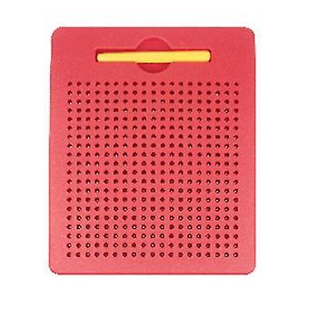 S boule en plastique rouge planche à dessin magnétique jouet pour enfants az11195