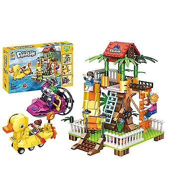 692008# Eğlence parkı dönme dolap jumper serisi monte edilmiş yapı taşları çocuk oyuncakları az13111