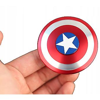 Fingertip Spinner Captain America Pattern Shield Decompression Toy