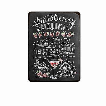 neue 20 20x30cm Vintage Tafel Zeichnung Cocktail Drink Metall Schilder Retro Kaffee Bar sm56412