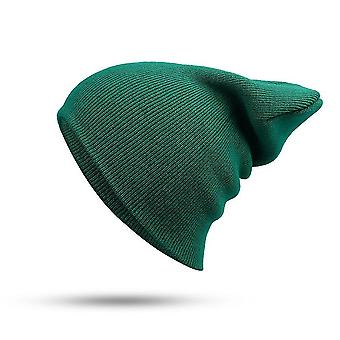 Mezclas de algodón de invierno Unisex, tapas de punto suaves (verde)