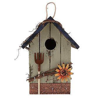 Dekoratives Vogelhaus mit Blume