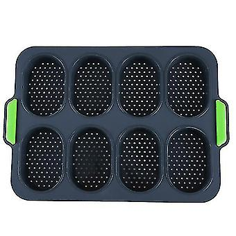 8-hole non-stick silicone bread baking pan Diy mini kitchen mold oval pastry tool French bread