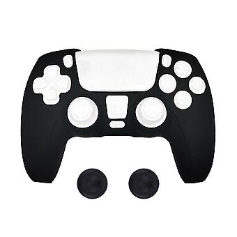 Silicone Cover Case Anti-slip For Ps5 With Thumb Grip Caps