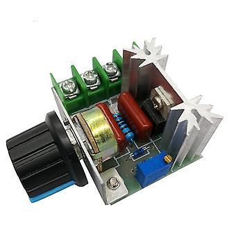 Ac 220v 2000w scr spänningsregulator dimring dimmers motorhastighetsregulator termostat elektronisk spänningsregulatormodul