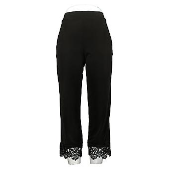 Susan Graver Pantalones de Mujer Reg Z-Eco Cityscape Negro A377190