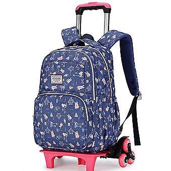 Trolley school bag climbing stairs girl elementary school children's school bag