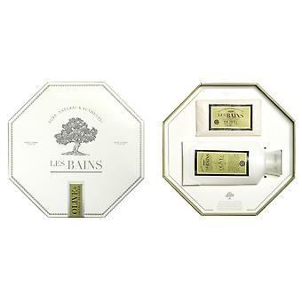 Les Bains - Olive & Set regalo fiore arancione: Lozione / sapone + Les Bains - Olive e Fleurs D'oranger-ensemble Cadeau: Lozione/savon