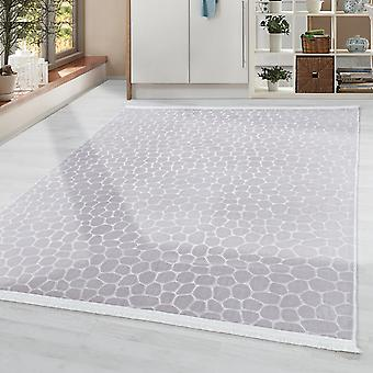 Alfombra suave de la sala de estar lavable Piso de piedra antideslizante Motivo Beige