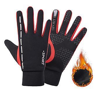 Zimné rukavice Full Finger Fleece Tepelná reflexná dotyková obrazovka Cyklistická rukavica