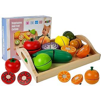 Houten groenten en fruit - Snijset - 11-delig
