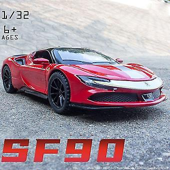 Toy cars 1:32 ferrari sf90 car model die casting metal model toy boyfriend christmas gift simulated alloy car red