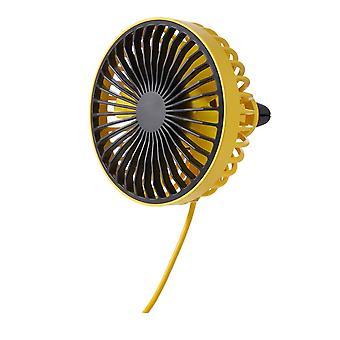 Mimigo Auto Elektrische Ventilator Auto Air Outlet Mittelkonsole Big Wind Usb Mini Klimaanlage Ventilator Zitronengelb, Akazienrot, Keramik Weiß, Gentleman Schwarz - S