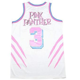Men's Panther #3 Basketball Jersey Stitched Pink White Black Pinkblue