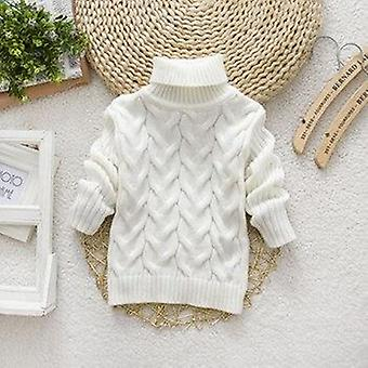 Girls sweater winter boy girl thick knitted bottoming turtleneck shirts solid high collar pullover sweater children clothing