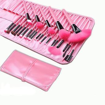 Sac cadeau de 24pcs Maquillage Brosse Sets Sourcil poudre Fond de teint Ombres Pu Cosmétiques Brosses