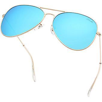 Classic Polarized Aviator Sunglasses Uv Mirrored Lens Metal Retro Shades
