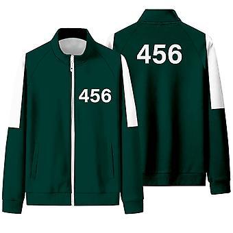 Squid Competition Jacket Male Li Zhengjae Same Sportswear Plus Size 456 National Tide Autumn Sweater