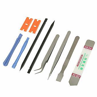 10 En 1 Téléphone Cellulaire Réparation Ouverture Pry Démonter Outils Set Spudger Tweezer Kit