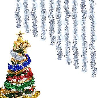 Christmas Tinsel Garland For Christmas Tree Decorations, Blue