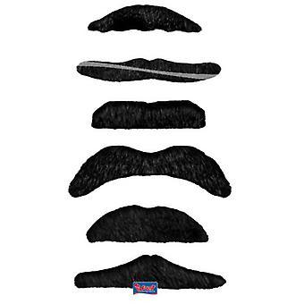 Wąsy ustawione czarna 6 kawałek moustache beard wąsy
