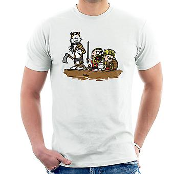 Calvin And Hobbes Vikings Ragnar Lothbrok Men's T-Shirt