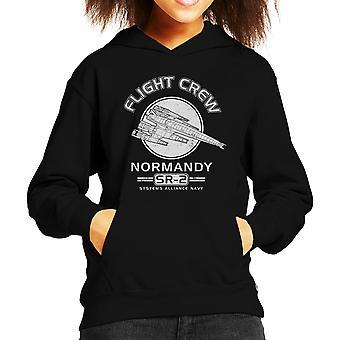 Normandy Flight Crew Mass Effect Kid's Hooded Sweatshirt