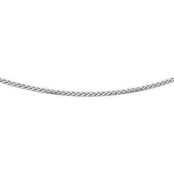 925 Sterling Silber Rhodium 3,10mm Diam-cut Rnd Weizen Herren Kette Birne Form Verschluss Halskette - Länge: 18 bis 24