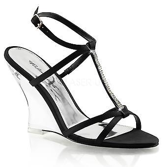 Fabulicious Frauen's Schuhe LOVELY-428 Blk Satin/Clr