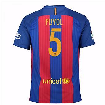 2016 / 17 Barcelona sponsoreret hjem skjorte (Puyol 5) - børn