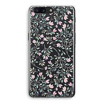 OnePlus 5 Transparant Case (Soft) - Dainty flowers