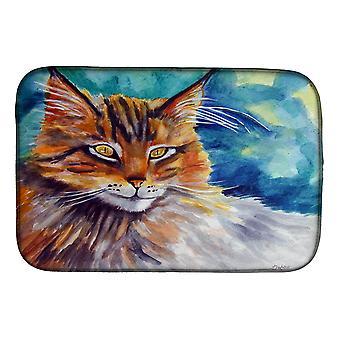 Carolines Treasures  7421DDM Maine Coon Cat Watching you Dish Drying Mat