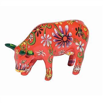 Flor amante vaca desfile de vaca (media de cerámica)