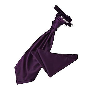 Cadbury violetti kiinteä tarkistaa häät Cravat & taskussa neliön Set