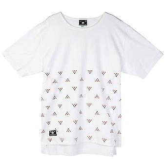 LRG Half Ditzy Knit Drop Tail T-shirt White
