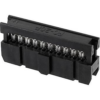 econ connect PV60OZ Pin connector Contactafstand: 2,54 mm Totaal aantal pinnen: 60 Nee. van rijen: 2 1 pc(s) Tray
