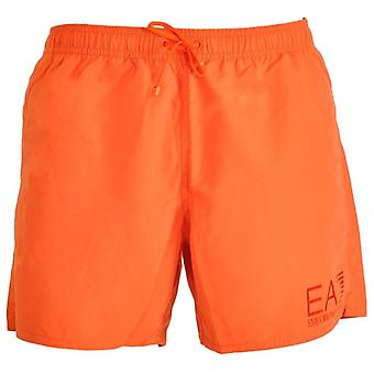 EA7 Emporio Armani Sea World Eagle Swim Shorts, Orange (48)